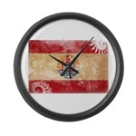 French Polynesia Flag Large Wall Clock