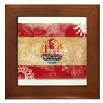 French Polynesia Flag Framed Tile