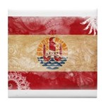 French Polynesia Flag Tile Coaster