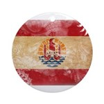 French Polynesia Flag Ornament (Round)