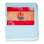 French Polynesia Flag baby blanket