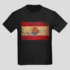 French Polynesia Flag Kids Dark T-Shirt