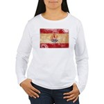 French Polynesia Flag Women's Long Sleeve T-Shirt