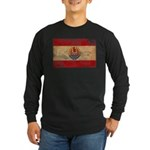 French Polynesia Flag Long Sleeve Dark T-Shirt