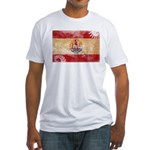 French Polynesia Flag Fitted T-Shirt