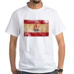 French Polynesia Flag White T-Shirt