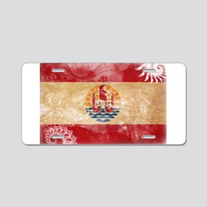 French Polynesia Flag Aluminum License Plate