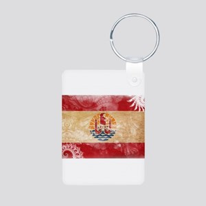 French Polynesia Flag Aluminum Photo Keychain