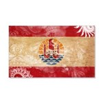 French Polynesia Flag 22x14 Wall Peel