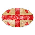 Georgia Flag Sticker (Oval 10 pk)
