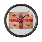 Georgia Flag Large Wall Clock