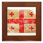 Georgia Flag Framed Tile