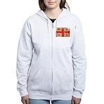 Georgia Flag Women's Zip Hoodie