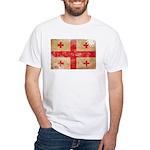 Georgia Flag White T-Shirt