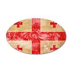 Georgia Flag 38.5 x 24.5 Oval Wall Peel