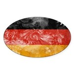 Germany Flag Sticker (Oval 10 pk)