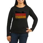 Germany Flag Women's Long Sleeve Dark T-Shirt