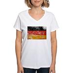 Germany Flag Women's V-Neck T-Shirt