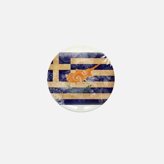 Greek Cyprus Flag Mini Button