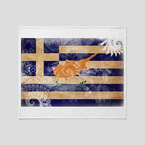 Greek Cyprus Flag Throw Blanket
