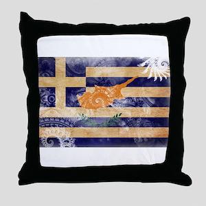 Greek Cyprus Flag Throw Pillow