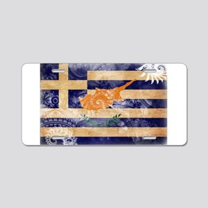 Greek Cyprus Flag Aluminum License Plate
