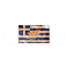 Greek Cyprus Flag 21x7 Wall Peel