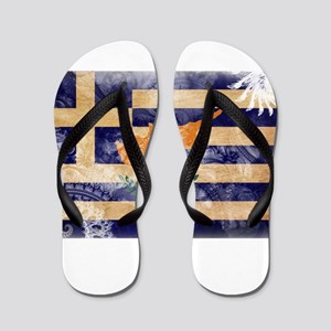 Greek Cyprus Flag Flip Flops
