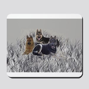 german shepherds in the grass Mousepad