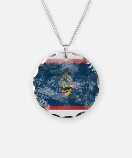 Guam Flag Necklace