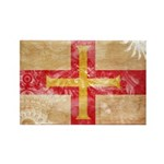 Guernsey Flag Rectangle Magnet (100 pack)