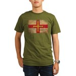 Guernsey Flag Organic Men's T-Shirt (dark)