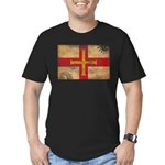 Guernsey Flag Men's Fitted T-Shirt (dark)