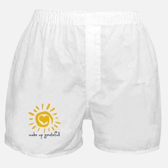 Wake Up Grateful Boxer Shorts