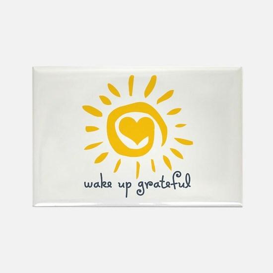 Wake Up Grateful Rectangle Magnet