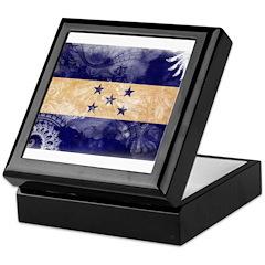 Honduras Flag Keepsake Box