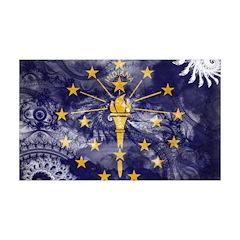 Indiana Flag 38.5 x 24.5 Wall Peel