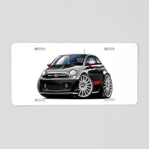 Abarth Black Car Aluminum License Plate