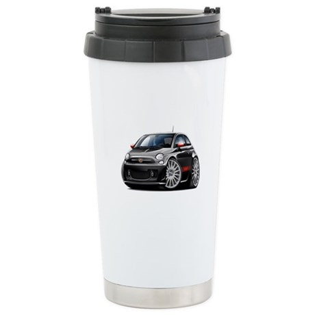 Abarth Black Car Stainless Steel Travel Mug