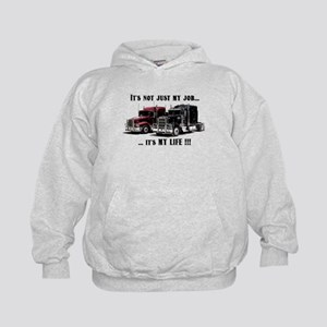 Trucker - it's my life Kids Hoodie