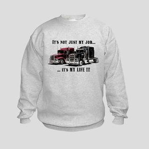 Trucker - it's my life Kids Sweatshirt
