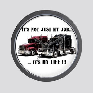 Trucker - it's my life Wall Clock