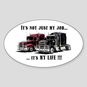Trucker - it's my life Sticker (Oval)