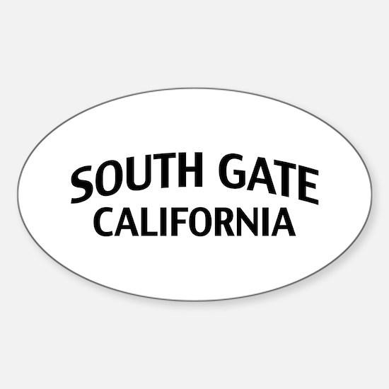South Gate California Sticker (Oval)
