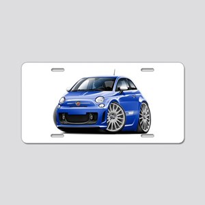 Abarth Blue Car Aluminum License Plate