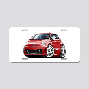 Abarth Red Car Aluminum License Plate
