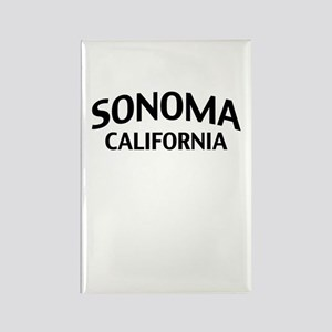 Sonoma California Rectangle Magnet