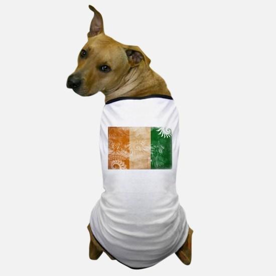 Ivory Coast Flag Dog T-Shirt