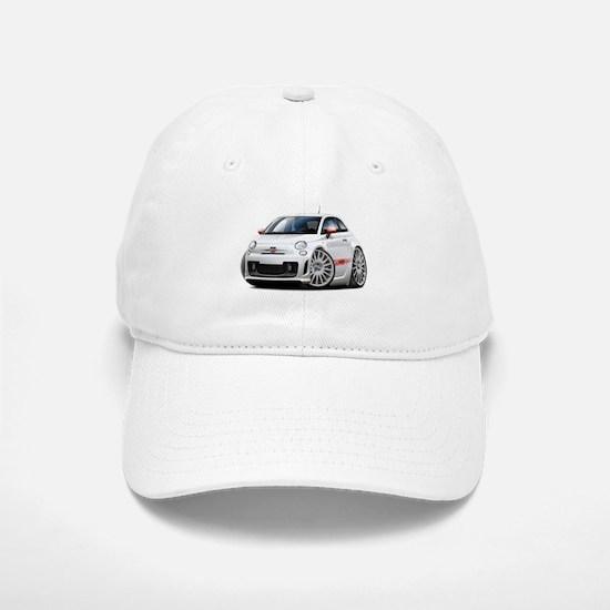 Abarth White Car Baseball Baseball Cap