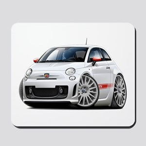 Abarth White Car Mousepad
